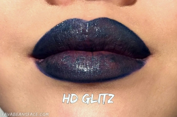 Revlon Ultra HD Matte Lipcolor Metallic Lip Swatch of HD Glitz